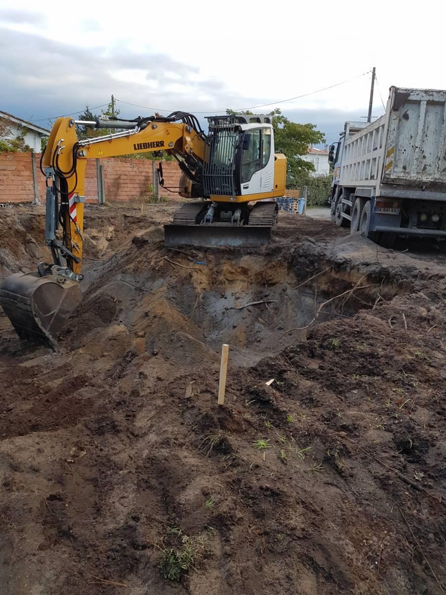 Construction de maison cazaux entreprise de ma onnerie - Terrassement bassin d arcachon tourcoing ...