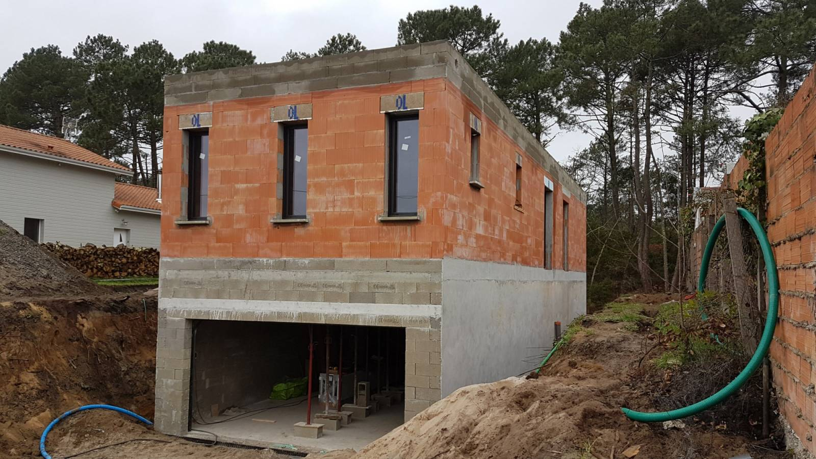 Construction de villa gujan mestras entreprise de for Construction de villa